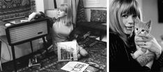 Marianne Faithfull at home with her record player Marianne Faithfull, Listening To Music, My Music, Image Basket, Jazz, Vinyl Junkies, Lana Turner, Hedy Lamarr, Record Players