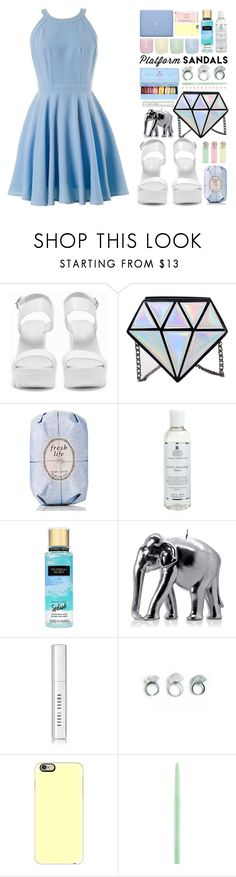 """I'm in the SKY"" by sonia-norman ❤ liked on Polyvore featuring Nly Shoes, Fresh, Kiehl's, Victoria's Secret, Wiedemann Candles, Marie Hélène de Taillac, Bobbi Brown Cosmetics, Casetify, Stila and Mamonde"