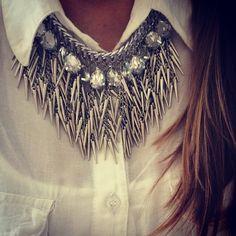 """""""JUST ARRIVED >>> Collar Feather Plata Un Fuego >>> Conseguilo en todos nuestros puntos de Venta y en el Shop Online - www.laquedivas.com.ar"""""""