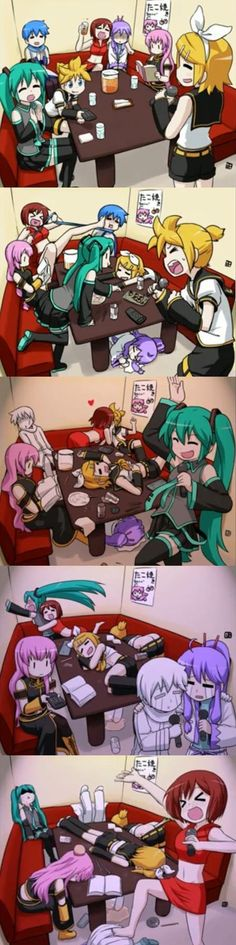 Vocaloid Party Comic by Aura2314 on DeviantArt