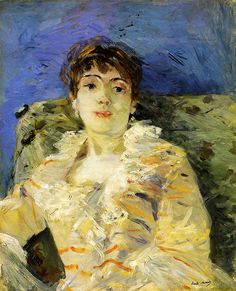 "Berthe Morisot, ""Young Woman on a Couch,"" 1885"