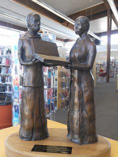 Mrs. Margaret Campbell and  Mrs. Quincie Douglas, sculpture at the Quincie Douglas Branch Library, Tucson, AZ