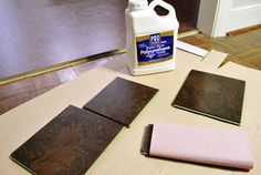 PRO Water-Based Polyurethane from Home Depot used for Sealing Kitchen Cork Floor | www.younghouselove.com