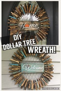 DIY wreaths for the holidays that don't cost a dime.You won't believe how easy it is to make these DIY wreaths for FREE. They are so easy to make that you can do it without Cheap Wreaths, How To Make Wreaths, Rustic Wreaths, Outdoor Wreaths, Wreath Crafts, Diy Wreath, Wreath Making, Wreath Ideas, Cute Crafts