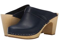 Swedish Hasbeens Slip In Dark Blue - Ohh... I need these!