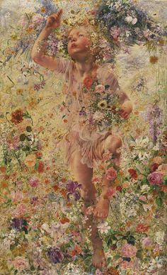 """.:.  Say goodbye to winter—it is officially spring! """"The Four Seasons: Spring,"""" 1893, Léon Frédéric"""