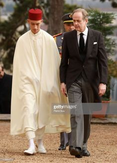 Prince Moulay El Hassan of Morocco and Prince Jean D'Orleans, Duke of Vendôme attend tthe funeral of Prince Henri Of Orleans, Count Of Paris at Chapelle Royale on February 2019 in Dreux, France. (Photo by Pierre Suu/Getty Images) Roi Mohamed 6, Hassan 2, Choice Fashion, African Royalty, Women Lawyer, Royal House, People Like, Funeral, Duke