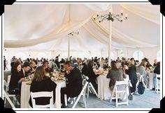 love a tented wedding reception