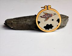 Turtle Dove necklace II  mixed media wearable art por fricdementol