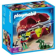Playmobil 4802 Shell with Cannon by PLAYMOBIL. $15.11. Playmobil Shell with Cannon 4802. 7.9 x 7.9 x 3 inches. with a small snake. The sea shell opens and closes.