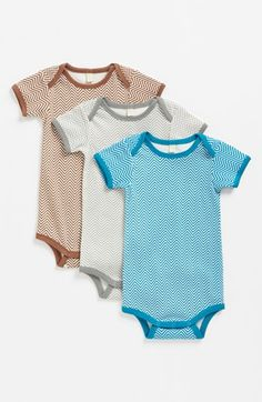 Stem Baby Organic Cotton Bodysuit (3-Pack) (Baby Boys) available at 8832d3c8f