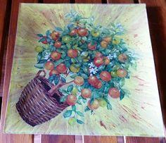 Mi Rincón de Manualidades: NARANJORealizada en tonos Lemon Yellow y Cherry R...