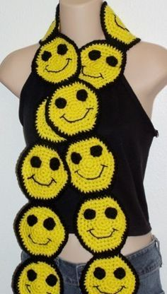 Smiley Happy Face Scarf- I would have worn this back in HS