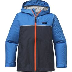 Patagonia - Torrentshell Jacket - Boys' - Navy Blue/Andes Blue