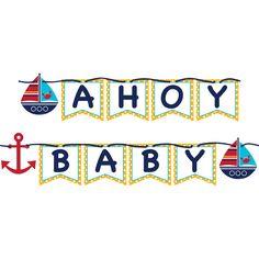 Ahoy Matey Banners 6 ct Price: $13.95 - Napkins.com #babyshower
