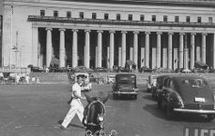 Bureau of Post - Manila Philippines Culture, Manila Philippines, Filipino Culture, Filipiniana, Pinoy, Vintage Pictures, Old Photos, Street View, Interesting Photos