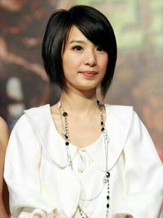 Short, straight bob with side bangs