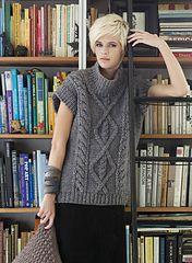Ravelry: #08 Cap Sleeve Tunic pattern by Mari Lynn Patrick bulky 10 st/4 in. dec 11 vogue knitting