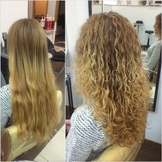 Before and after perm on Pinterest