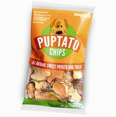 Puptato Chips - made from sweet potatoes!