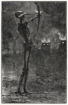 J. E. Millais: Death dealing arrows, 1903.