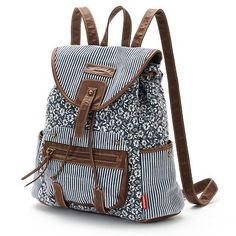 Unionbay Striped Floral & Patchwork Backpack