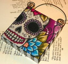 Sugar Skull, via Etsy. want this for my office