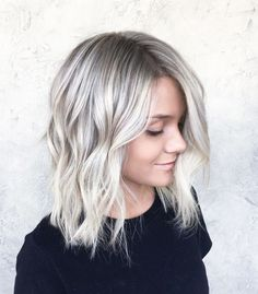 A new take on icey blonde. It's not too white and it's not too grey. Just a natural blend that's fun and fresh for summer. Happy summer! #summerbliss