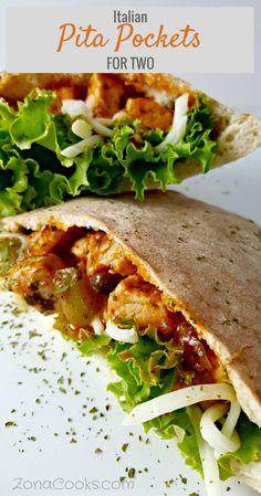 Italian Pita Pockets Recipe for Two