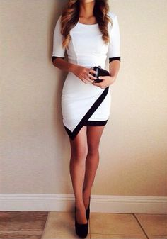 Asymmetrical Wrap Style Dress - Wrap Overlay Dress