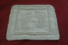 Free! - 2009June2Ophelia Footprint Dishcloth Natural by purityseekers, via Flickr