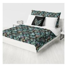 Mermaid Bedding Duvet Cover Comforter Cover Twin Queen King Euro Sham... (€120) ❤ liked on Polyvore featuring home, bed & bath, bedding, duvet covers, grey, home & living, gray twin bedding, grey king size bedding, twin bedding and gray euro sham