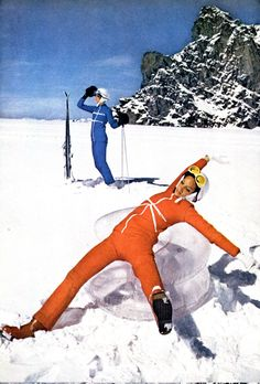 Take your ski vacation to the next level. Here, 6 of the world's most epic ski vacations. Photographed by Arnaud de Rosnay, Vogue, November, 1968 Vintage Ski, Vintage Winter, Vintage Travel, Vintage Posters, Apres Ski Outfits, Ski Bunnies, Ski Vacation, Vacation Outfits, Vacation Spots