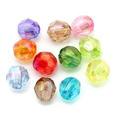 200 AB Schimmer Perlen 4x4mm facettiert Farben Mix Acryl faceted Beads | facettierte Perlen | Kunststoffperlen | Perlen |  günstig kaufen bei Bacabella.com | Perlen, Schmuck und Schmuckzubehör zum Schmuck selber machen | Schmuck basteln DIY DoItYourself | ganz individuell und einfach | Schmuckperlen