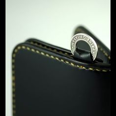8a601d421b27 IH-MW Medium Cordovan Wallet Black shell cordovan Inner in black calf  leather Special Iron