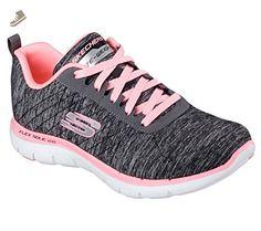 Skechers Sport Women's Flex Appeal 2.0 Sneaker, Black Coral, 11 M US - Skechers sneakers for women (*Amazon Partner-Link)
