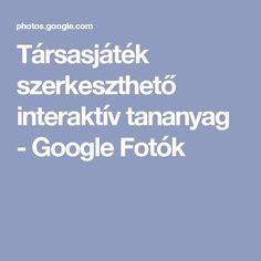 Társasjáték szerkeszthető interaktív tananyag - Google Fotók Google, Album, Education, Photo And Video, Peda, Creative, Onderwijs, Learning, Card Book