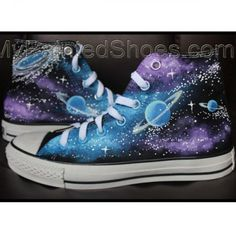 f10575f16935 Converse All Star Galaxy Converse Shoes Canvas Shoes Custom Painted Sh