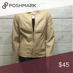 2X HP Dress Barn - [Plus] Creme Jacket Brand new with tags. Gold zippers and buttons. Great for casual Friday. Dress Barn Jackets & Coats Blazers