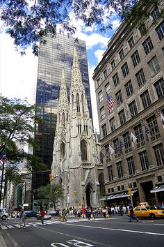 Saks Fifth Avenue & St Patricks Cathedral by ifotog, Queen of Manhattan Street Photography, via Flickr