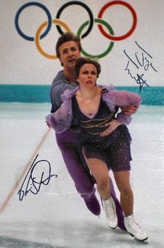 "Torville and Dean ~ This Ice Dancing Pair Returned to Olympic Competition After A Decade's Break and Hit Bronze With Their Famous ""Bolero"" Routine...Beauty & Grace On Ice...An Unforgettable Olympic Moment!!"