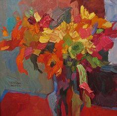 Birthday Flowers by Larisa Aukon Oil ~ 12 x 12