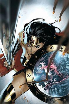 Action Comics variant cover - Wonder Woman, Rebirth by Ryan Sook * Wonder Woman Art, Superman Wonder Woman, Wonder Women, Wonder Woman Comic, Superman Action Comics, Dc Comics Art, Comics Girls, Marvel Dc Comics, Robin Comics