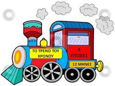 """Με αφορμή μια εξαιρετική ιδέα - κατασκευή που είδα στο ισ τολόγιο της Κατ ερίνας , """"Παιχνιδοκαμώματα ...""""  το τρένο των εποχών  έφτιαξα..."""