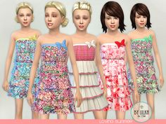 The Sims Resource: Loving Summer dress by lillka • Sims 4 Downloads
