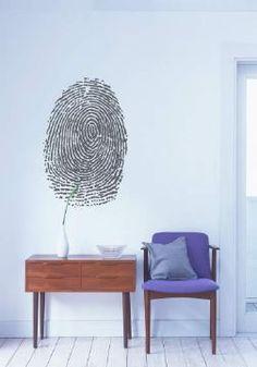 3e5d24b99 Fingerprint Wall Sticker Wall Decor Stickers, Vinyl Wall Decals, Adhesive, Vinyl  Wall Stickers