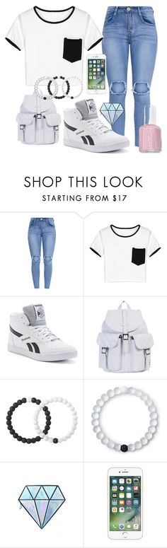 """""""swag"""" by kailaaaaaa ❤ liked on Polyvore featuring WithChic, Reebok, Herschel Supply Co., Lokai, Unicorn Lashes and Essie"""