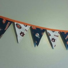 6' Auburn Tigers small fabric pennant banner, $15+shipping https://m.facebook.com/TheCoasterSewster/