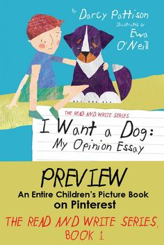 I WANT A DOG: A Pinterest preview of a children's picture book. Read the whole book on Pinterest | Mims House Books