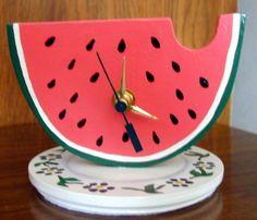 Watermelon Desktop Clock